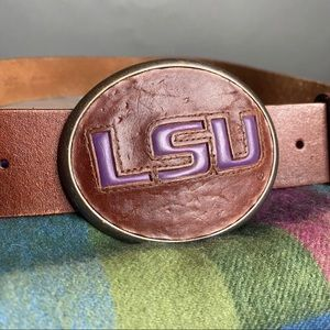 Fossil LSU Leather Buckle Belt Some Wear